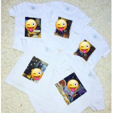 Печать на белой футболке (серии Evolution)